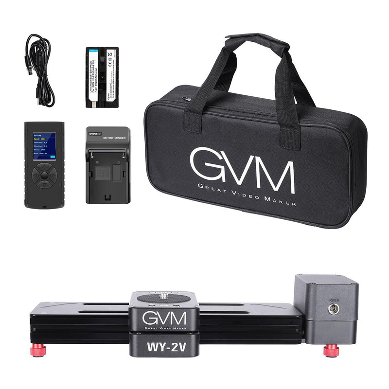 GVM WY-2V Portable Mini Motorized Camera Slider - GVMLED