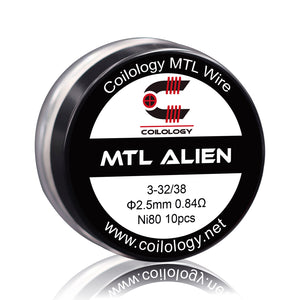 New Released MTL Alien prebuilt 10pcs/box flavored coils for mtl tank