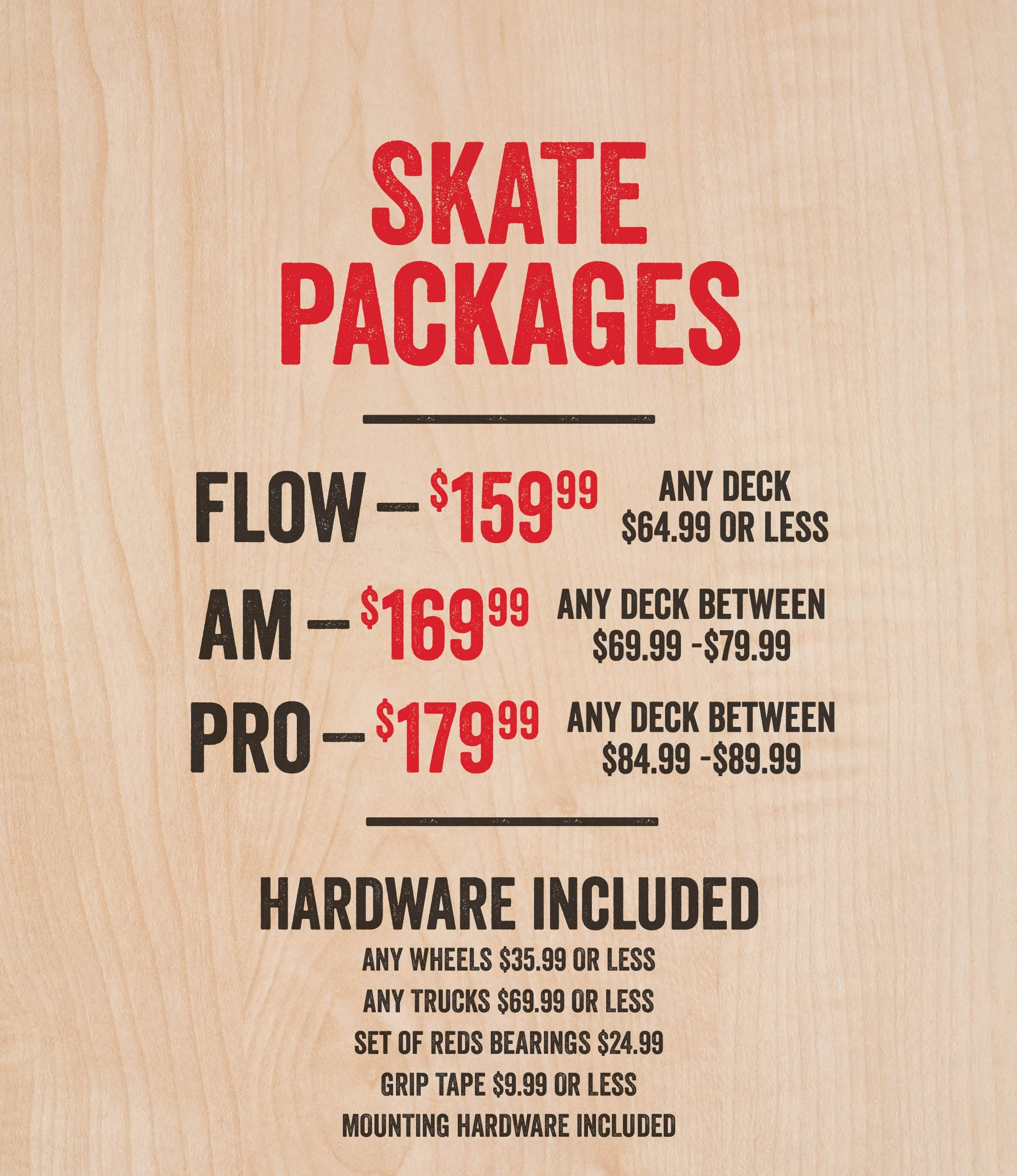 skate packages