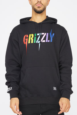 Grizzly Incite Black Popover Hoodie