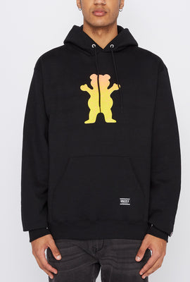 Grizzly Mens Gradient Classic Logo Hoodie