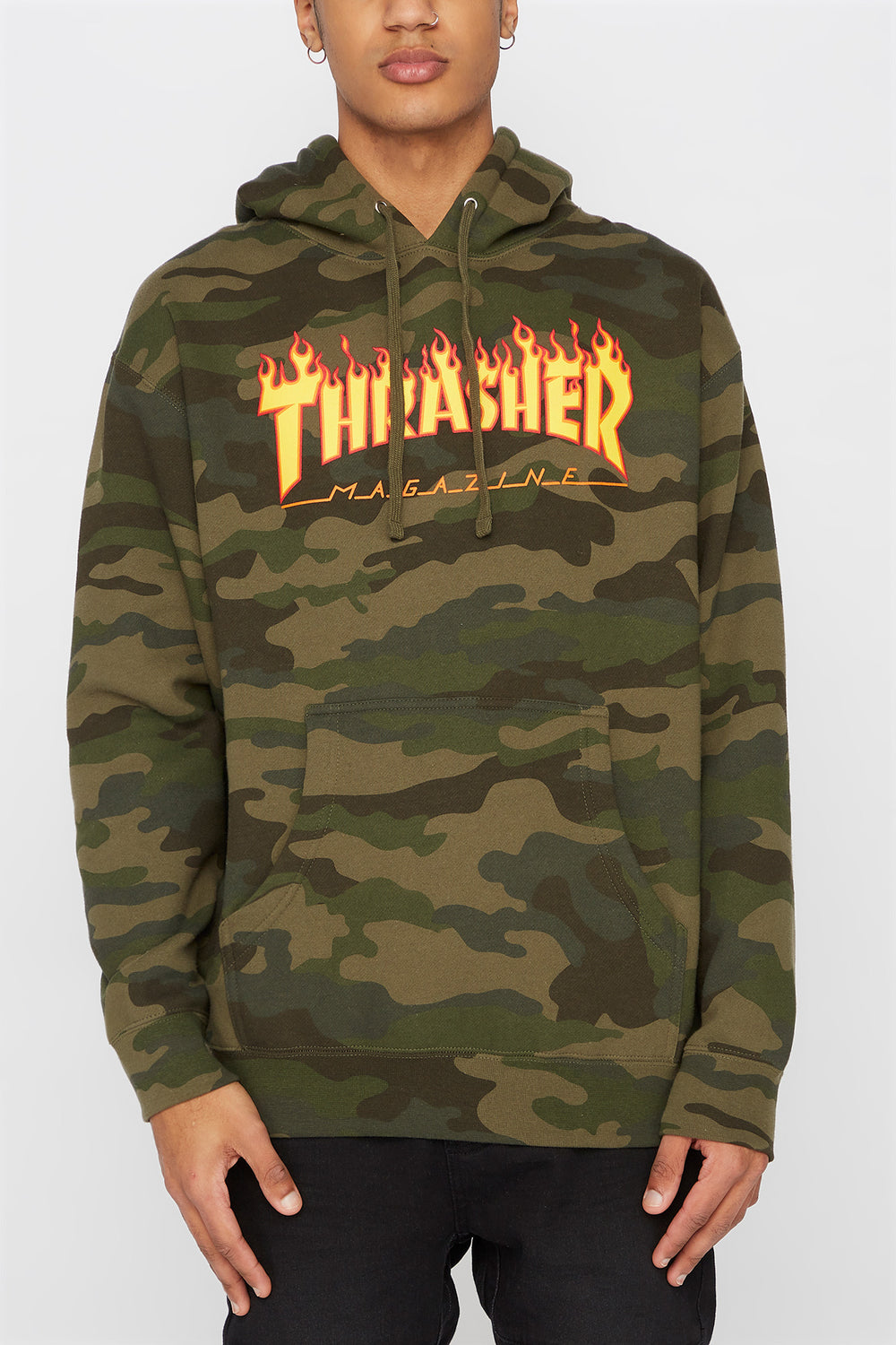 Thrasher Mens Camo Hoodie Camouflage