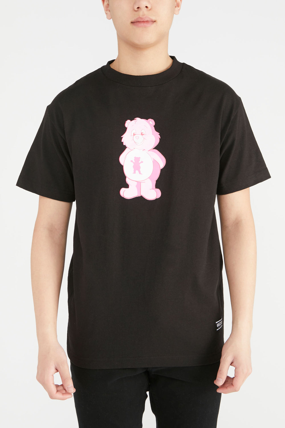 Grizzly Positive Bear T-Shirt Black