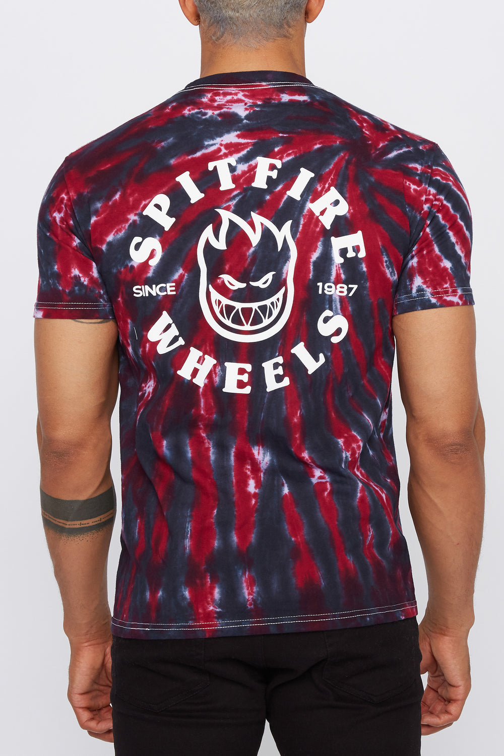 Spitfire Mens Tie-Dye T-Shirt Red