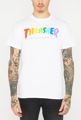 T-Shirt Thrasher Logo Arc-en-ciel