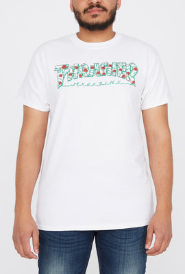 Thrasher Mens Rose Logo White T-Shirt