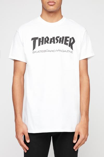 Thrasher Mens White T-Shirt White