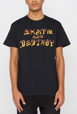 T-Shirt Skate and Destroy Thrasher Homme