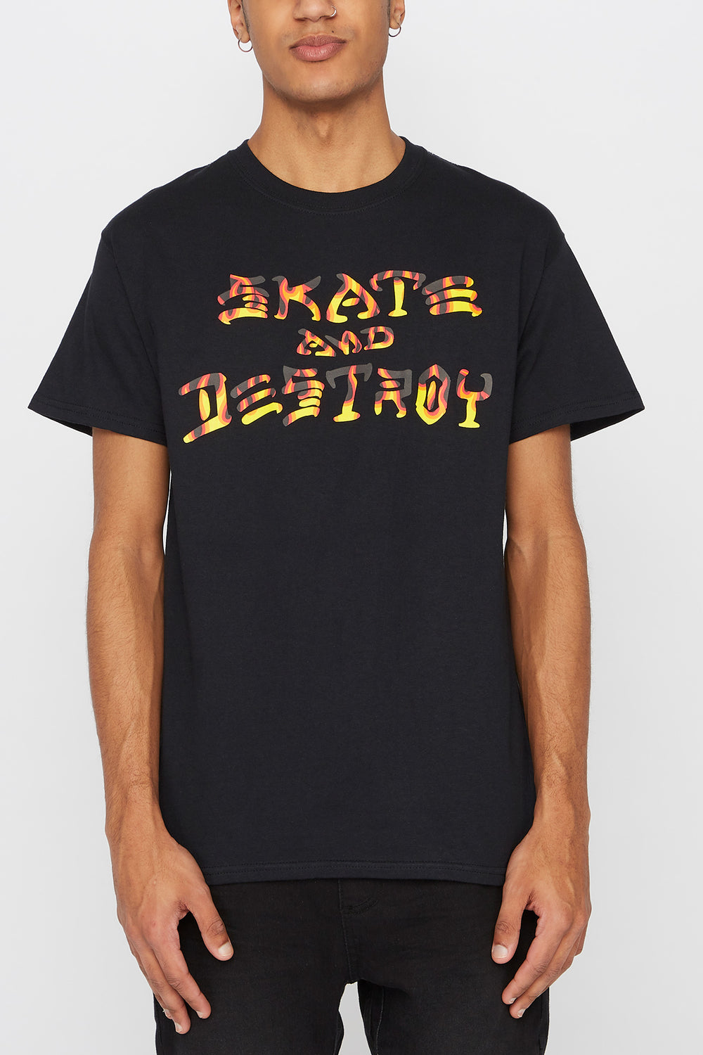 T-Shirt Skate and Destroy Thrasher Homme Noir