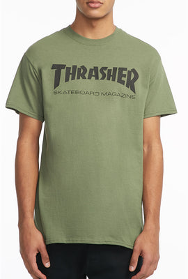 Thrasher Mens Olive Green T-Shirt