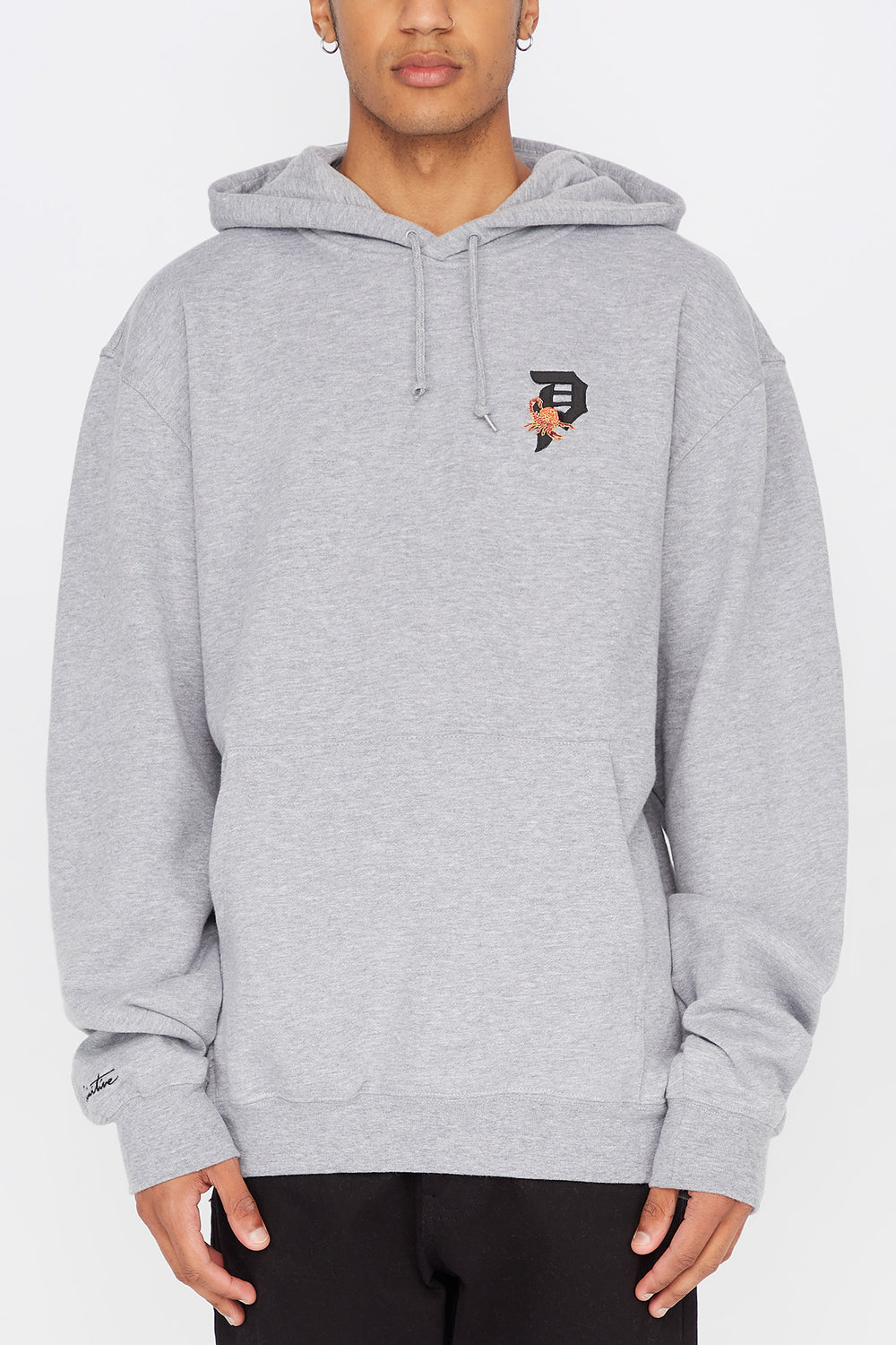 Primitive Mens Dirty P Scorpion Hoodie Heather Grey