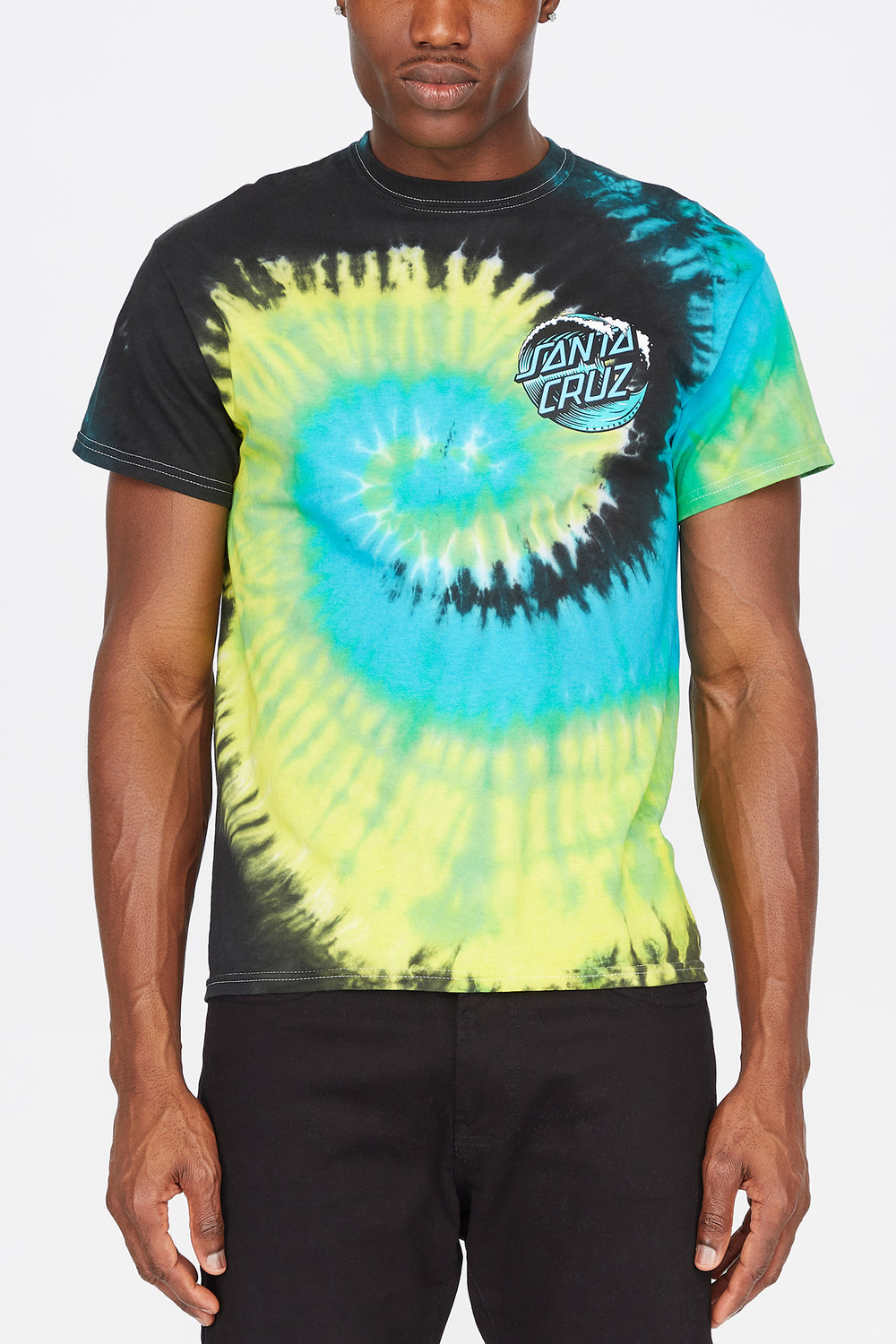 Santa Cruz Wave Dot Tie-Dye T-Shirt Multi