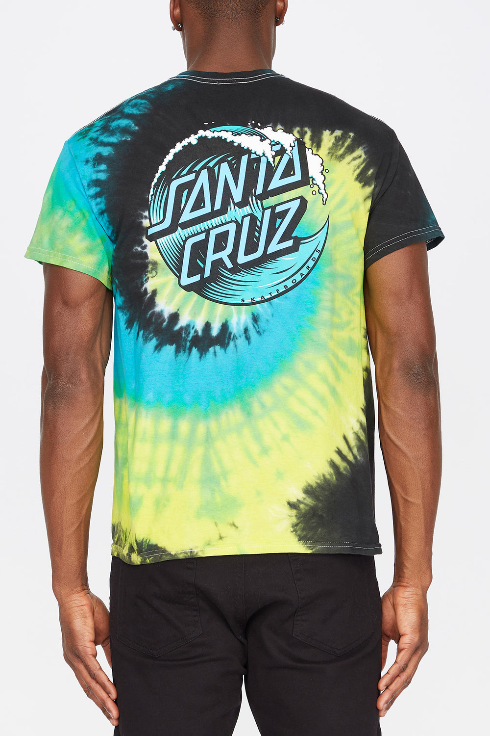 T-Shirt Tie-Dye Wave Logo Santa Cruz Multi