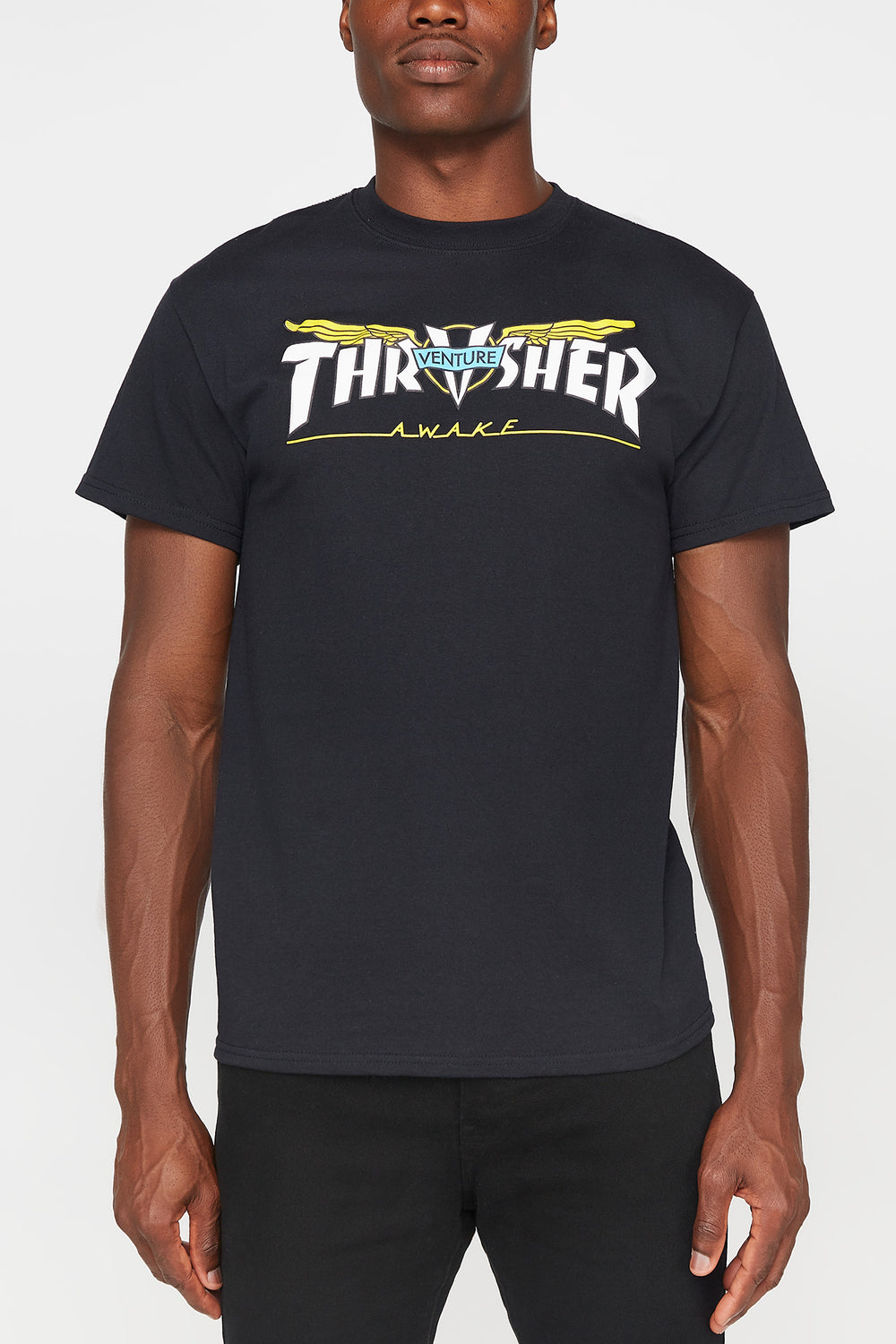 Thrasher x Venture Mens T-Shirt Black