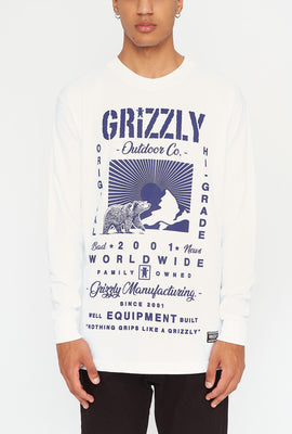 Grizzly Mens Tagline Long Sleeve
