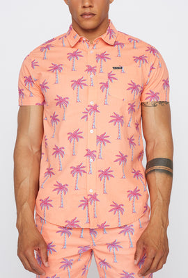Zoo York Mens Tropical Print Button-Up Shirt