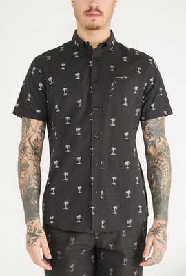 Zoo York Mens Ditsy Print Button-Up