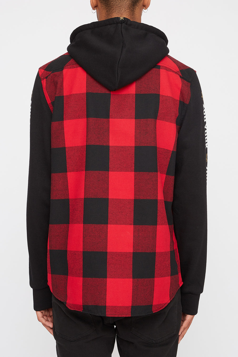 Zoo York Mens Flannel Hoodie Red