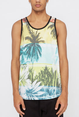 Camisole Imprimé Tropical Distortion Homme