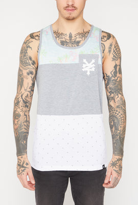 Zoo York Mens Neon Flamingo Pocket Tank Top
