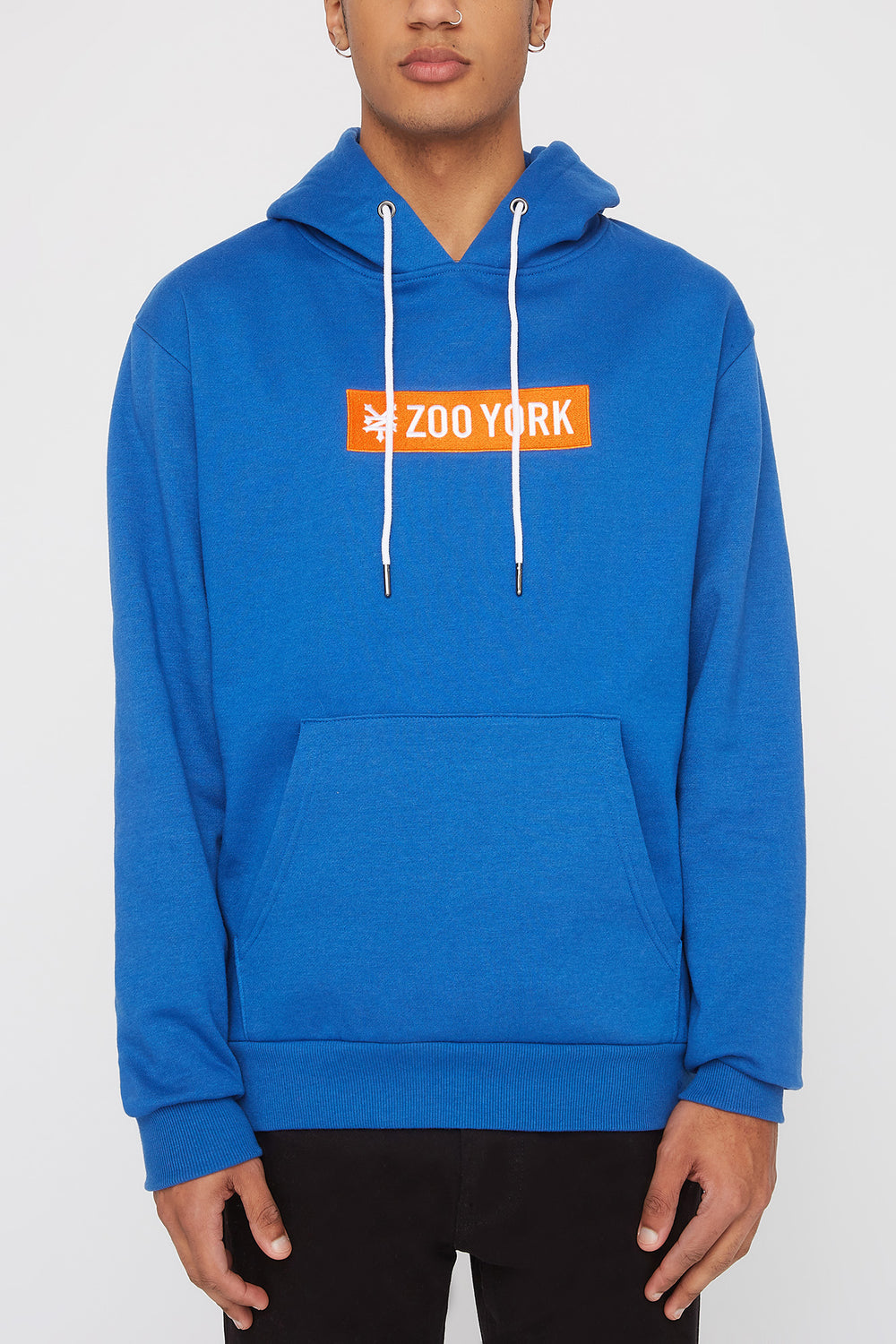 Zoo York Mens Classic Patch Logo Hoodie Blue