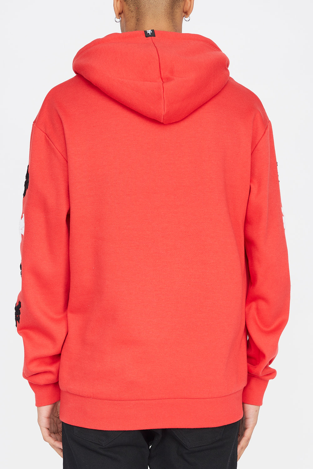 Zoo York Mens Chenille Logos Hoodie Red