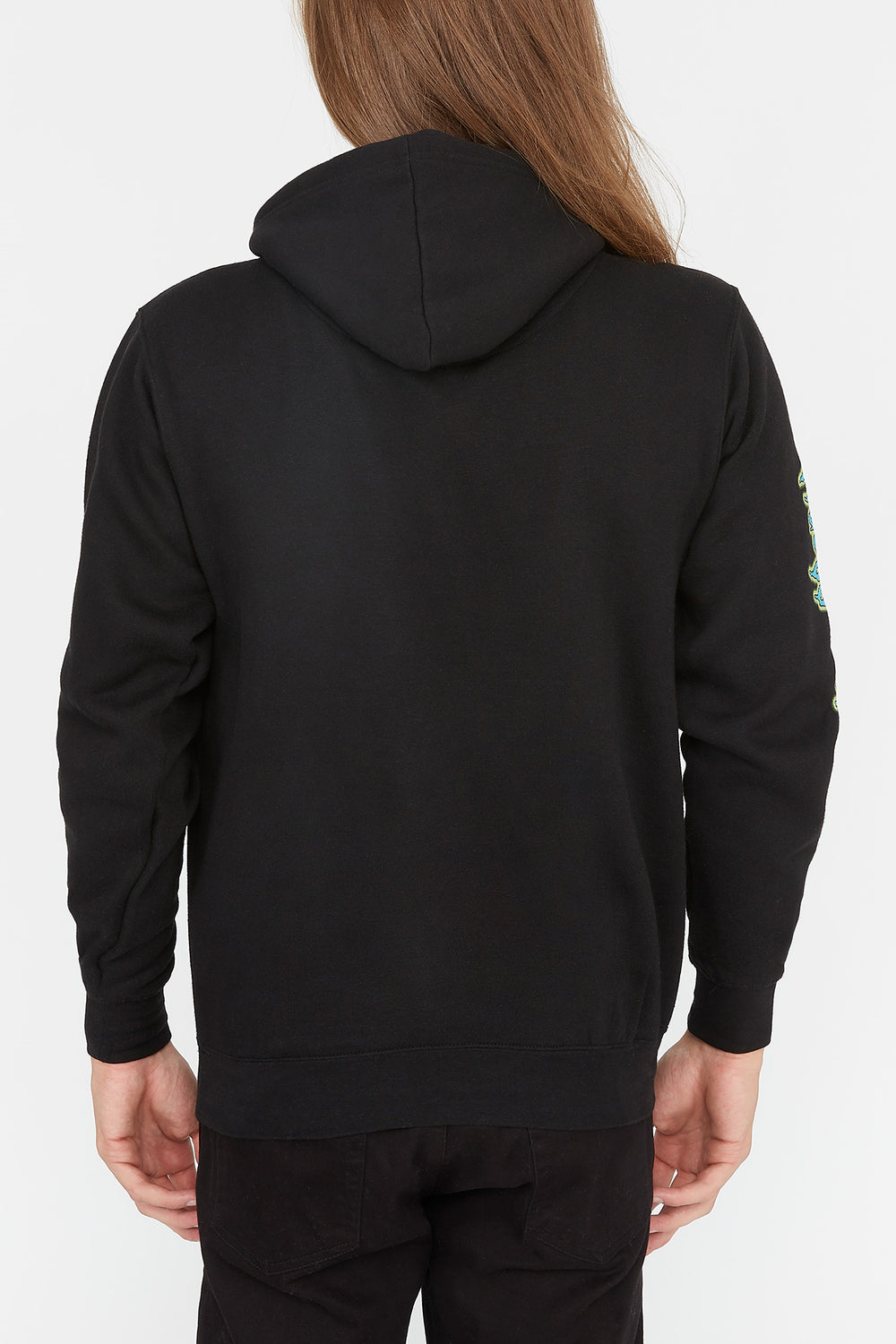 Rick & Morty Mens Space Alien Hoodie Black