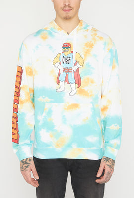 The Simpsons Duffman Tie-Dye Hoodie