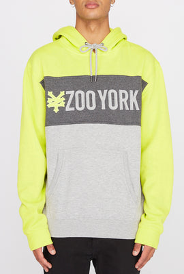 Zoo York Mens Neon Colour Block Hoodie