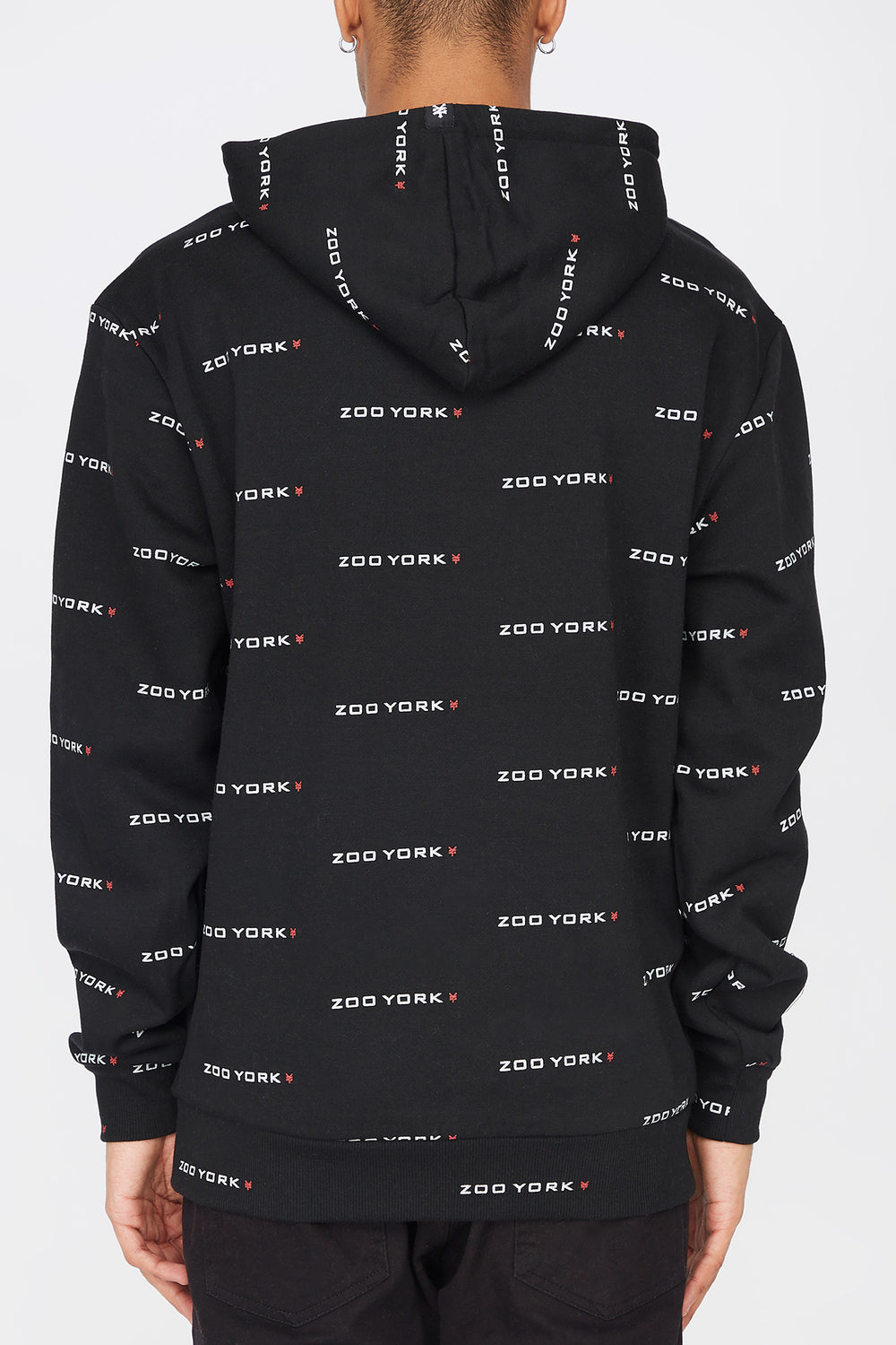 Zoo York Mens Chenille Patch Hoodie Black