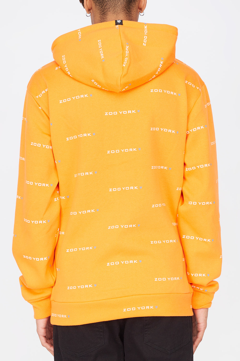 Zoo York Mens Chenille Patch Hoodie Orange