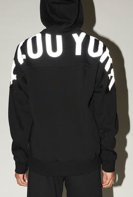 Zoo York Mens Reflective Large Shoulder Print Hoodie