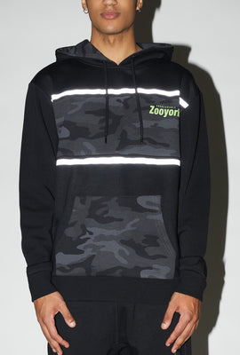 Zoo York Mens Camo Panel Hoodie
