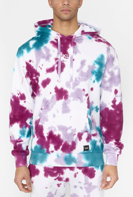 Young & Reckless Mens Purple Tie-Dye Hoodie