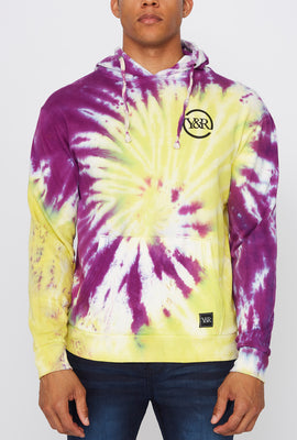Young & Reckless Mens Multi-City Tie-Dye Pullover Hoodie