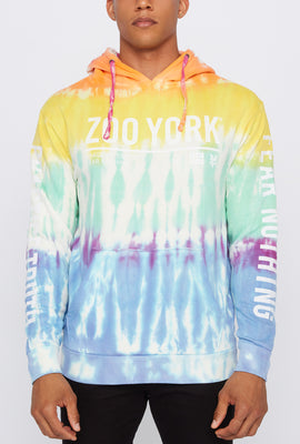 Zoo York Mens Graphic Tie-Dye Hoodie
