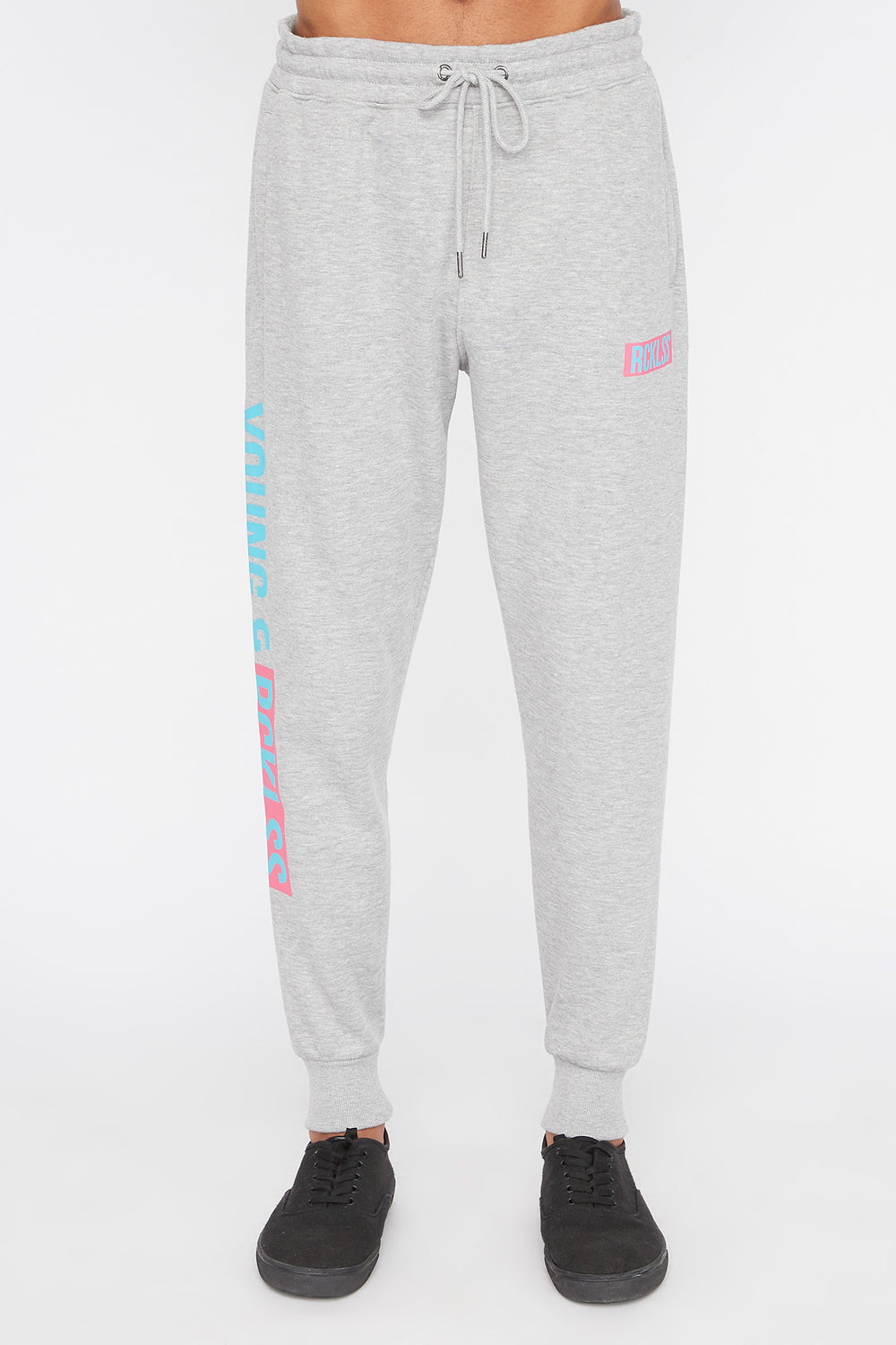 Jogger Logo Retro Young & Reckless Homme Gris