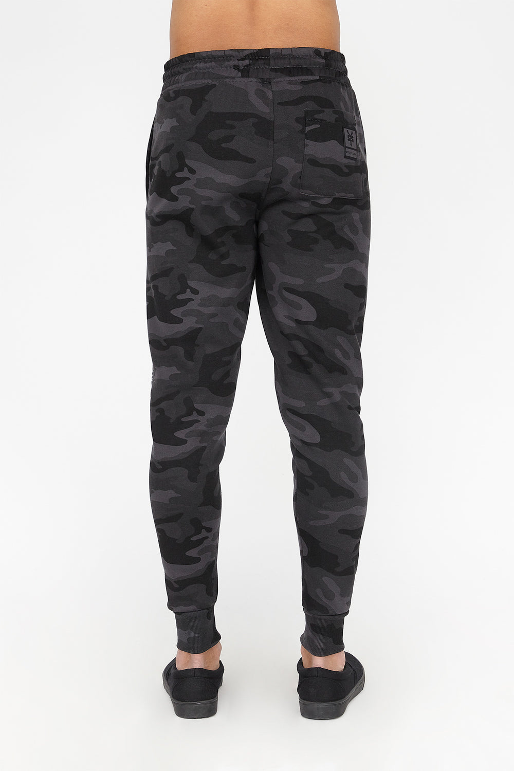 Zoo York Mens Reflective Camo Jogger Black with White