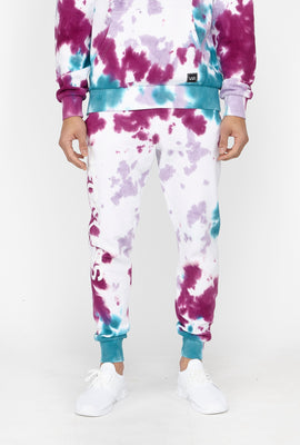 Young & Reckless Mens Purple Tie-Dye Jogger