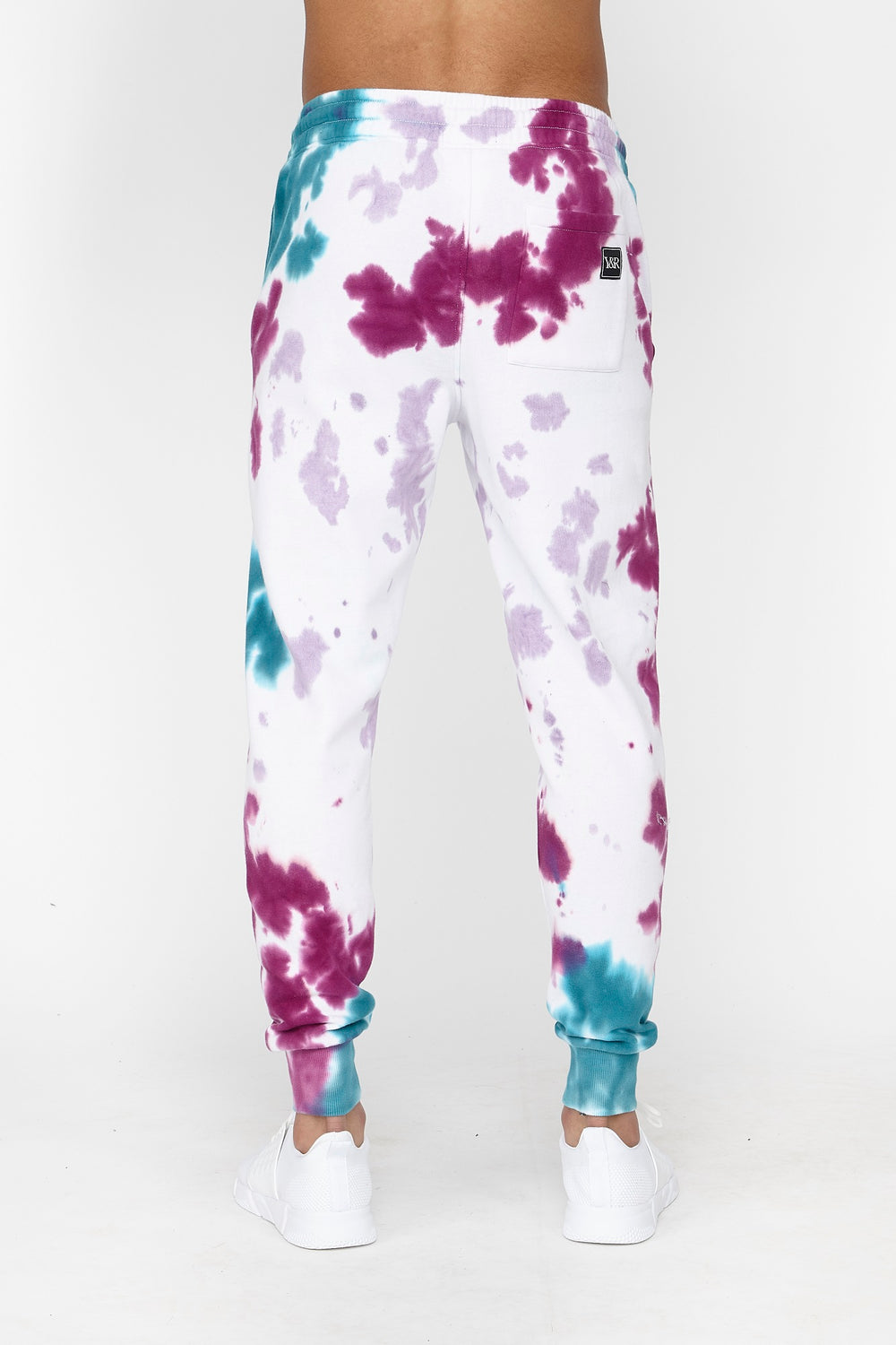 Young & Reckless Mens Purple Tie-Dye Jogger Purple