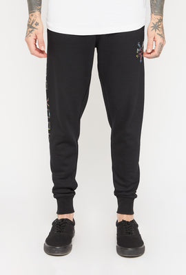 Jogger Logo Flamants Néons Zoo York Homme