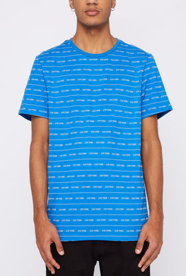 Zoo York Mens Jacquard Striped T-Shirt