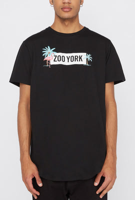 T-Shirt Logo Brodé Flamant Rose Zoo York Homme