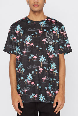T-Shirt Motif Flamants Roses Zoo York Homme