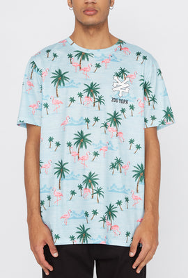 Zoo York Mens Pink Flamingo T-Shirt