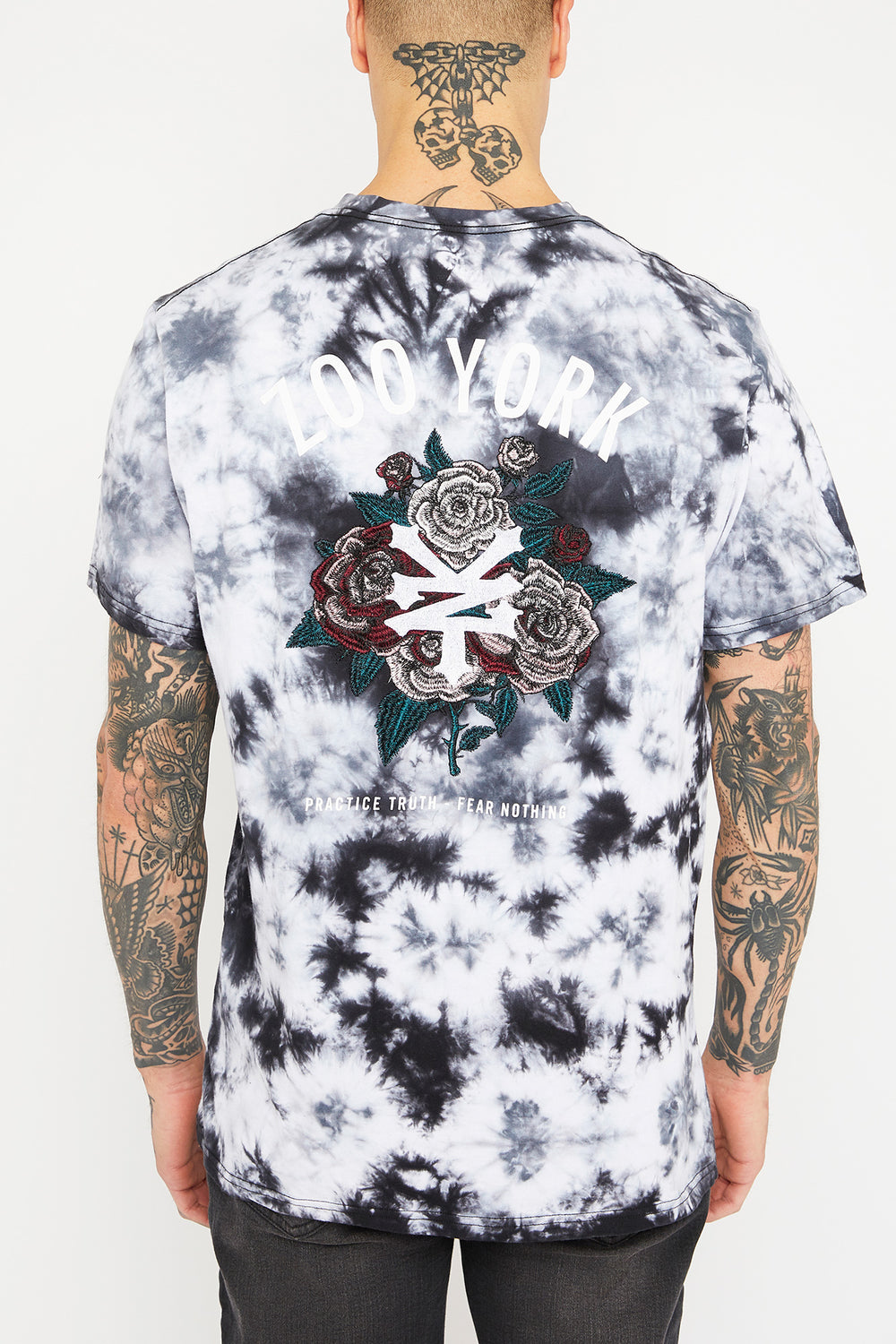 Zoo York Unisex Black & White Tie-Dye T-Shirt Black