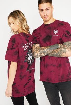 T-Shirt Unisexe Tie-Dye Rouge Zoo York