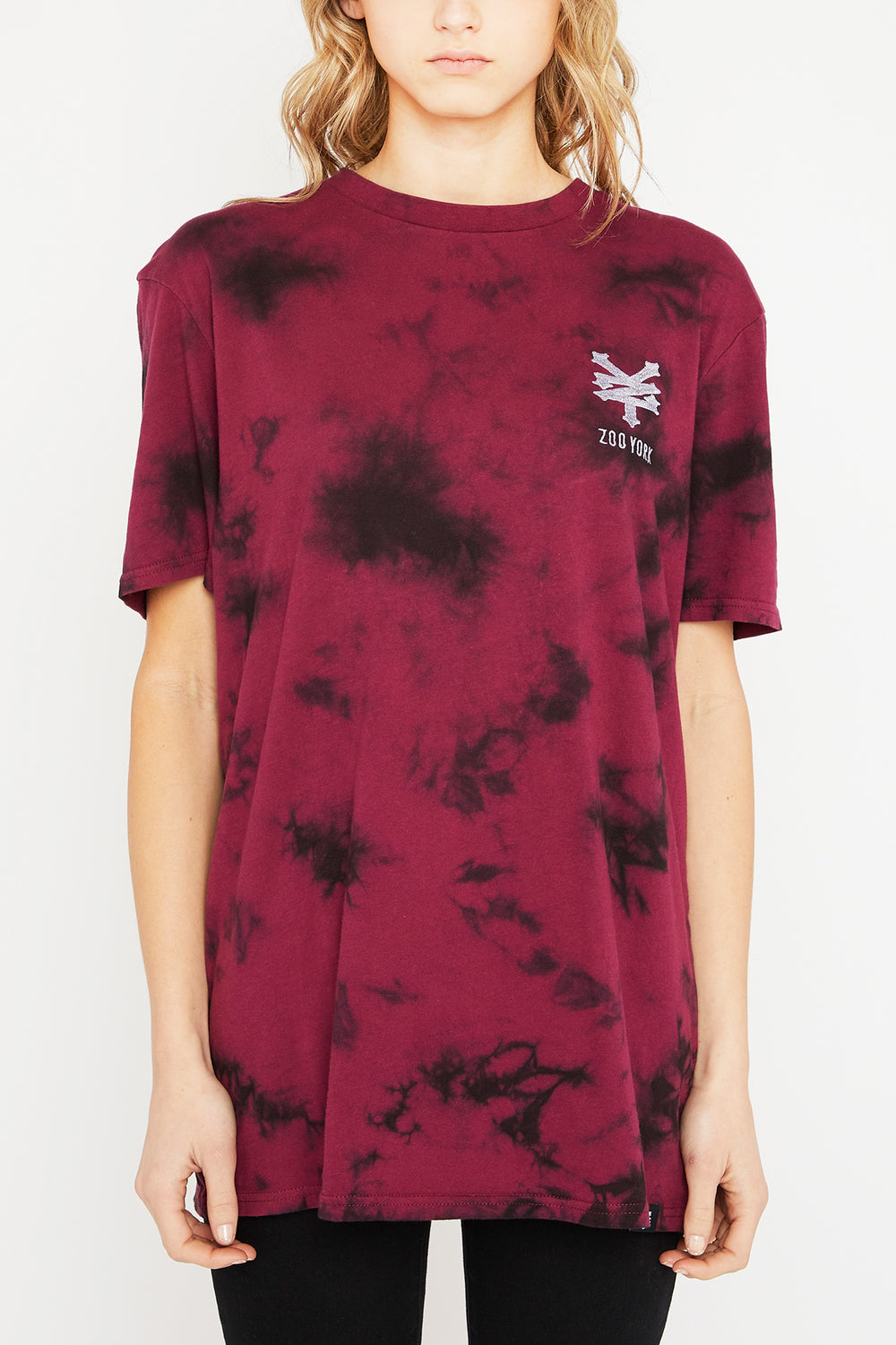 Zoo York Unisex Red Tie-Dye T-Shirt Red