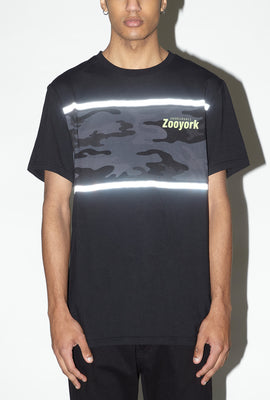Zoo York Mens Reflective Camo Panel T-Shirt