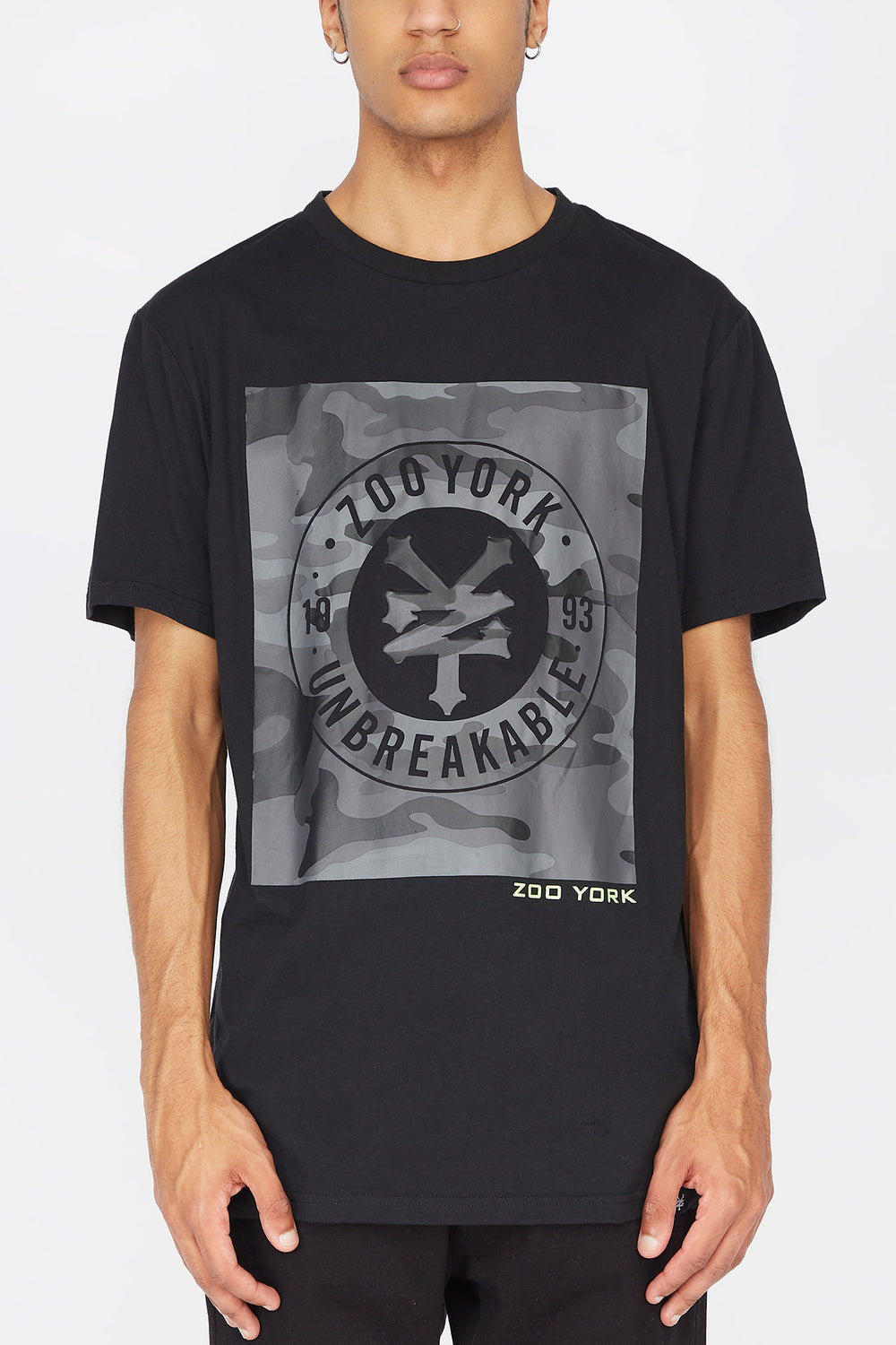 T-Shirt Logo Camouflage Zoo York Homme Noir